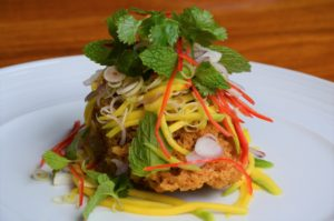 """the elysian seminyak crispy fish salad"""