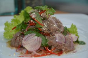 thailand spicy grill rare beef salad